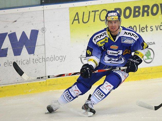 Hokejový útočník Jozef Balej.