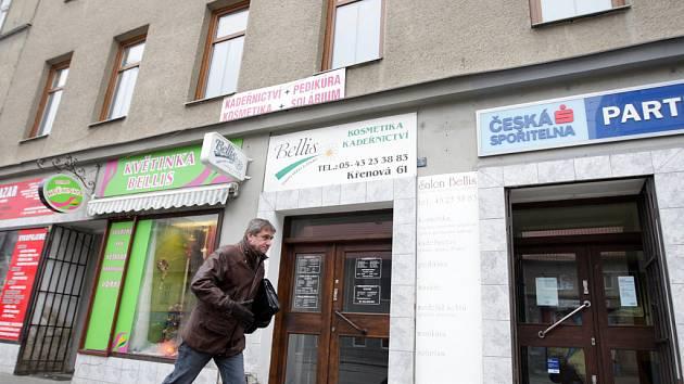 Dům v Křenové ulici nyní pronajímá vnuk obchodníka několika firmám