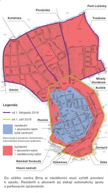 Mapa zavádění rezidentního parkování