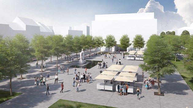 Vítězný návrh podoby Mendlova náměstí představili brněnští radní.
