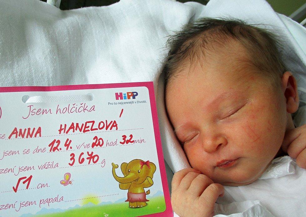 Anna Hanelová, 12. 4. 2021, Kostice, Nemocnice Břeclav, 3670 g, 51 cm