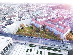 Nový park v centru města? Se stromy i kávou