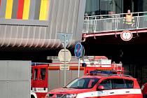 Zásah hasičů v Campus Square v brněnských Bohunicích. Hořelo v kuchyni jedné z restaurací.