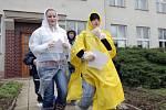 Nácvik evakuace při jaderné havárii.