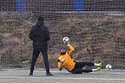 První letošní trénink fotbalové Zbrojovky Brno v Medlánkách.
