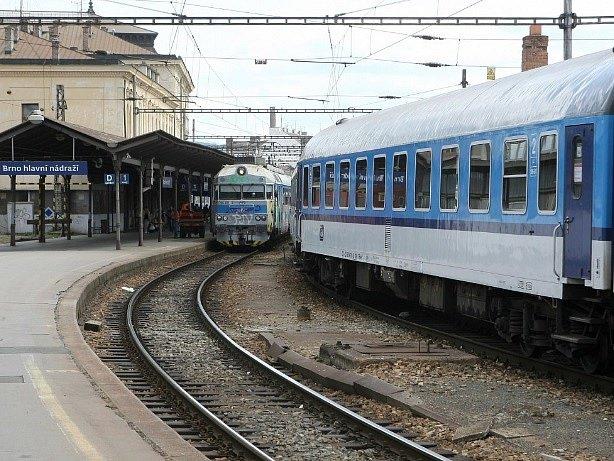 Brněnské hlavní nádraží. Ilustrační foto.