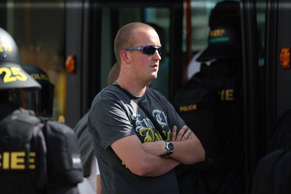 Svůj tým přijeli do Brna podpořit fanoušci Baníku.