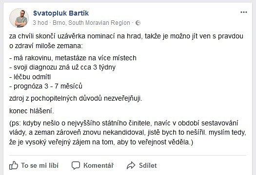 Status Svatopluka Bartíka.