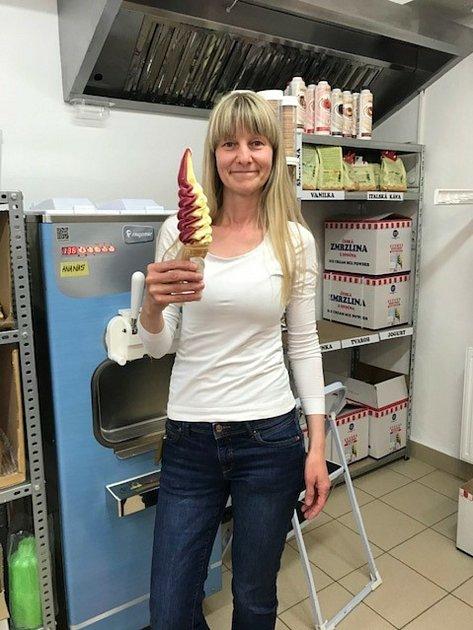 Zmrzlinářka Blanka Staňková.