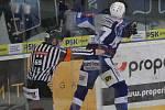 Hokejisté brněnské Komety v 47. extraligovém kole doma přetlačili Pardubice 2:1. Na snímku Radim Zohorna.