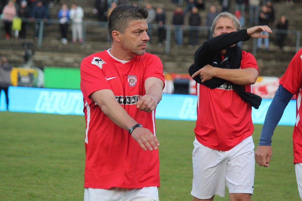 Za Lužánkami se ve čtvrtek utkaly legendy Zbrojovky Brno a Sigmy Olomouc. Milan Pacanda patřil spíše k mladším hráčům.