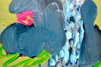 """Obraz Bublanina (na snímku) vetkl název celé výstavě Pavla Matysky v Domě umění. """"Hmota různě tvarovaných bublin je metaforou pro neuchopitelnost doby, ve které žijeme,"""" říká šestatřicetiletý brněnský malíř."""
