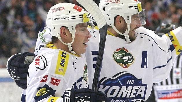 Hokejisté Jan Káňa (vlevo) a Michal Kempný.