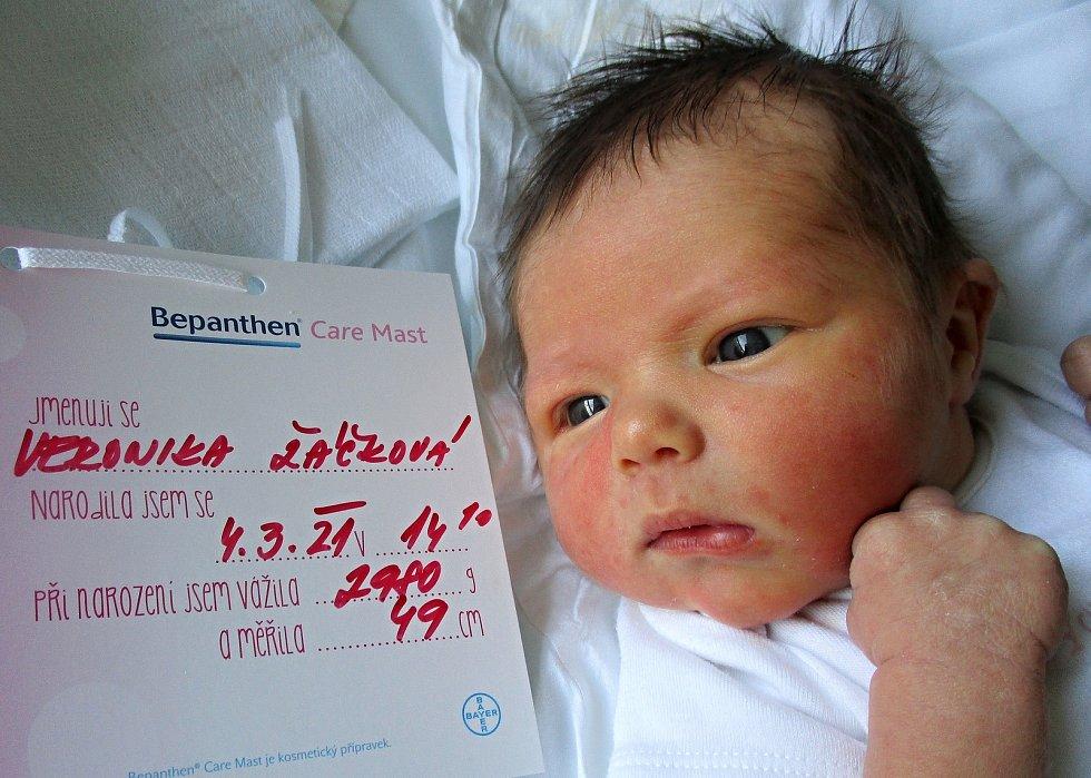Veronika Žáčková, 4. 3. 2021, Břeclav, Nemocnice Břeclav, 2980 g, 49 cm