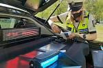Policisté na jihu Moravy měřili rychlost.