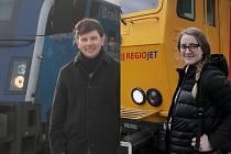 Redaktoři Deníku Rovnost Michal Rapco a Alžběta Nečasová testovali vlaky na trati Praha - Brno. Od neděle totiž začala Českým drahám konkurovat firma RegioJet. V konečném známkování dopadla lépe než státní podnik.