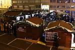 Vánoční trhy na Dominikánském náměstí v Brně. Ilustrační foto.
