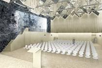 Vítězný návrh architektonické soutěže na budoucí podobu kulturního centra Svratka v brněnském Komíně.