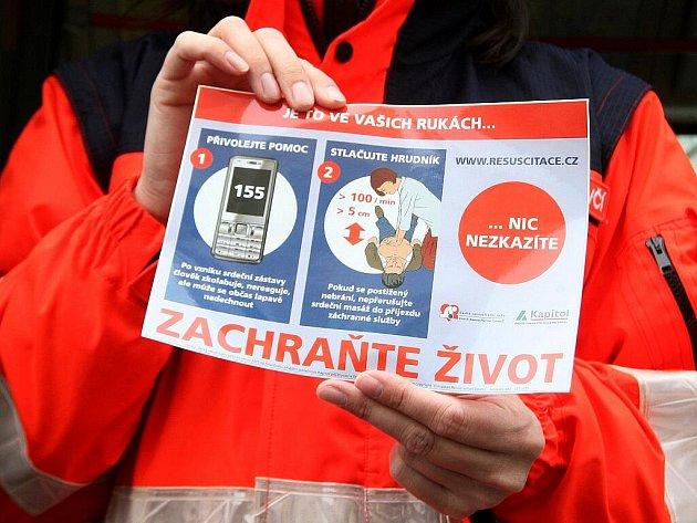 K celostátnímu projektu České resuscitační rady Zachraňte život se připojili i jihomoravští záchranáři.