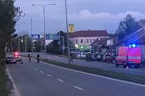 Uzavřená Gajdošova ulice v Brně kvůli nálezu červeného fosforu užívaného k výrobě pervitinu.