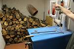 V případě potřeby je možné Kaprálův mlýn vytápět také kotlem na dřevo.