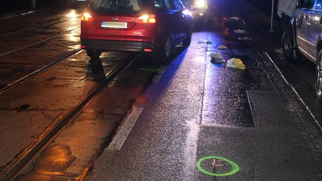 Nehoda v Údolní ulici.