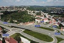 Budoucí podoba Velkého městského okruhu Rokytova v Brně.