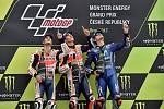 Monster Energy Grand Prix České republiky 2017, Moto GP - zleva Dani Pedrosa, Marc Márquez a Maverick Viňales.