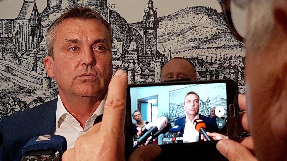 Exprimátor města Brna Petr Vokřál.