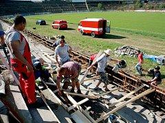 Brněnský fotbalový stadion za Lužánkami. Ilustrační foto.