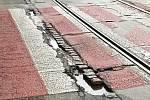 Merhautova ulice před opravou.