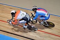 Ve sprintu na mistrovství Evropy narazil Adam Ptáčník (vpravo) na domácího Hugo Haaka.