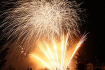 První ohňostroj festivalu Ignis Brunensis.