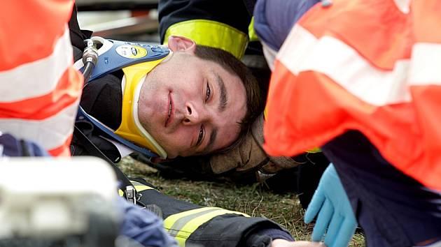 Záchranářská soutěž Rallye Rejvíz na brněnském hasičském cvičišti v Líšni.