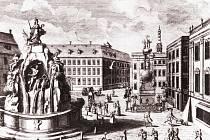 Pohled na Zelný trh s Dietrichsteinským palácem z roku 1729 od B. B. Wernera.