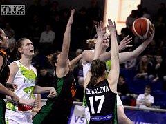 Královopolské basketbalistky v posledním kole základní části nejvyšší domácí soutěže porazily Žabiny 68:57 a po základní části skončily na třetím místě.