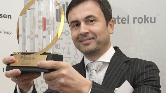 Soutěž Podnikatel Jihomoravského kraje roku 2015 vyhrál Jindřich Životský (na snímku).