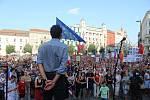 V Brně podle organizátorů demonstrovalo nejméně pět tisíc lidí.