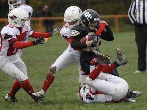 OBRAZEM: Hráčky brněnských Amazons obhájily titul v americkém fotbale