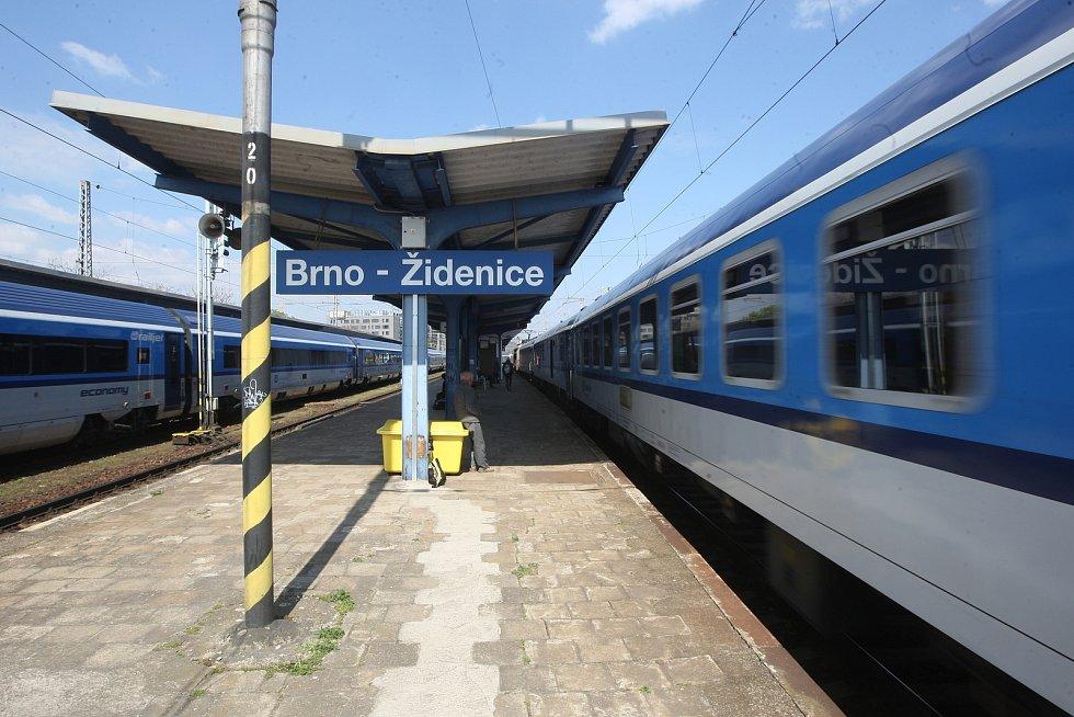 Vlakové nádraží Brno Židenice.