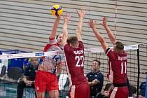 Čeští volejbalisé si v přípravě poradili s Lotyšskem shodně 3:1 na sety.