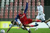 Brněnští fotbalisté podlehli na domácím hřišti v posledním podzimním kole Gambrinus ligy Baníku Ostrava 0:2.
