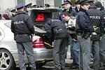 Policisté řeší událost v brněnské ulici Cejl.
