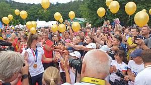 Tenistka Barbora Krejčíková se vrátila z olympijských her do Brna.
