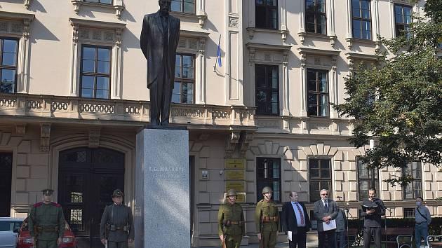 Pietní shromáždění připomnělo výročí úmrtí T. G. Masaryka.