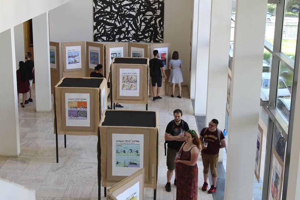 Výstava internetového umění v brněnském Semilasse.