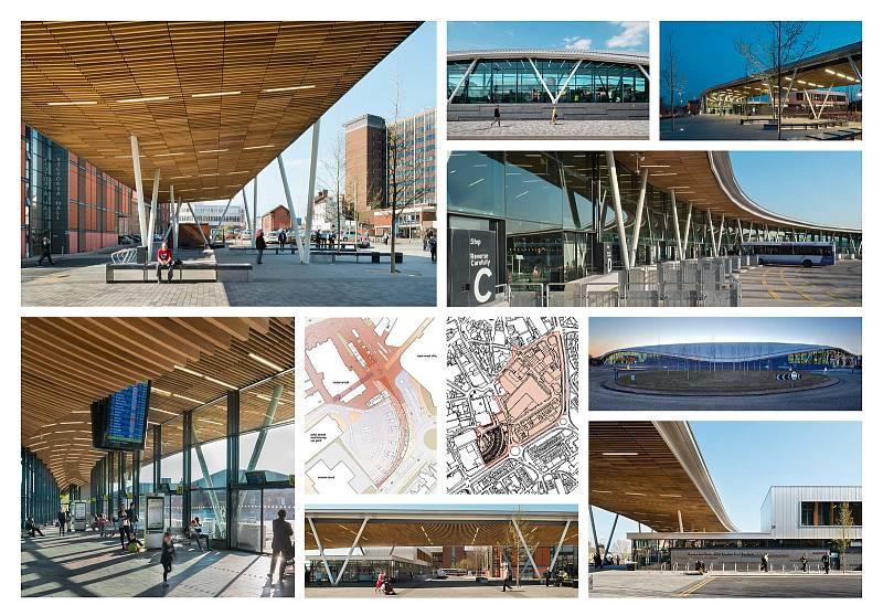 Hlavní autobusové nádraží, Stoke-on-Trent, Spojené království.