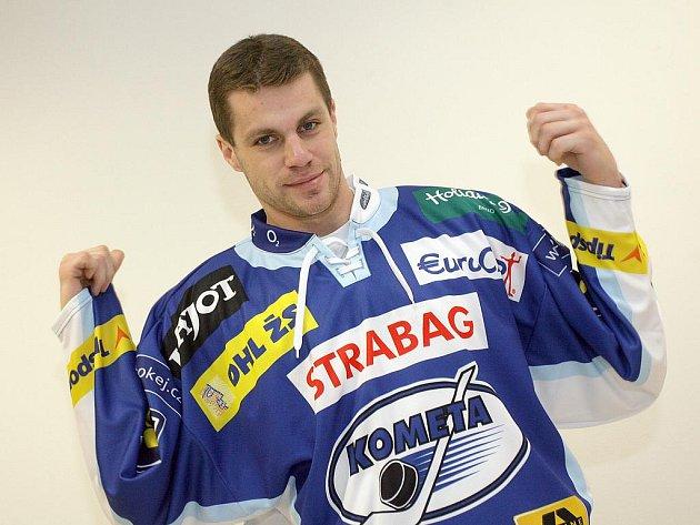 Hokejista brněnské Komety Petr Hubáček.