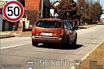 Řidič překročil rychlost v Čejči.