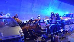 Jihomoravští záchranáři nacvičovali v tunelu